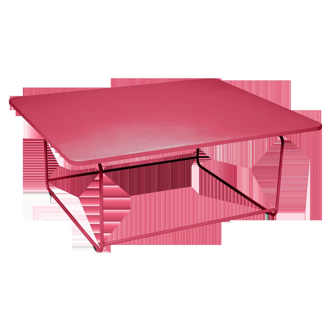 table basse metal, salon de jardin, table basse de jardin, table basse rose