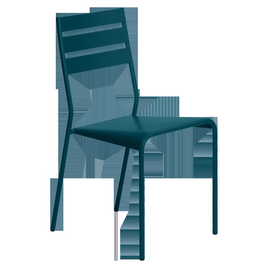 Chaise facto bleu acapulco