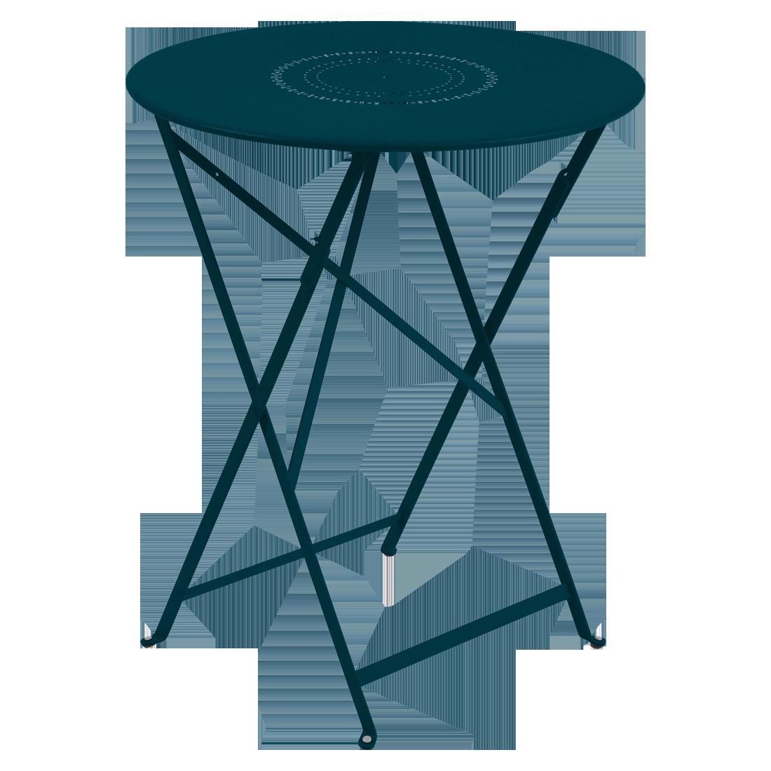 Table Ø 60 cm floréal bleu acapulco