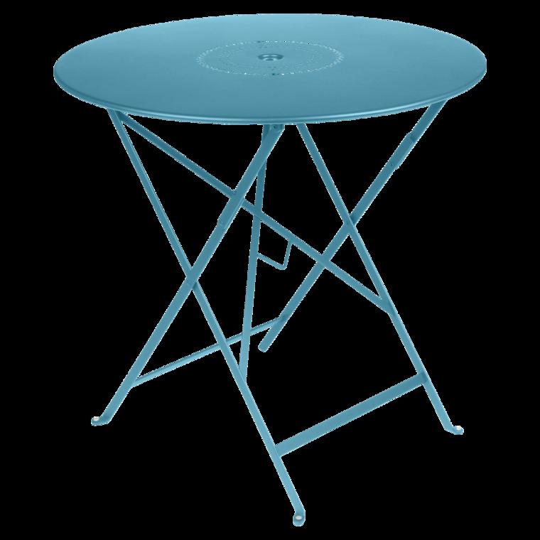 Table Floréal ronde 77 cm, table de jardin, table pliante jardin