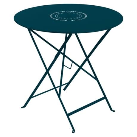 Table Ø 77 cm floreal bleu acapulco