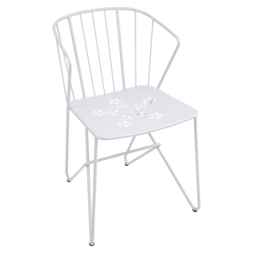 chaise metal, chaise design, chaise original, chaise blanche, chaise de jardin
