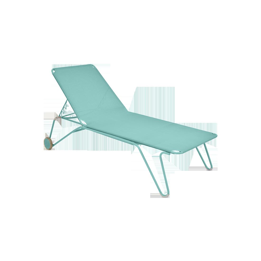 bain de soleil fermob, chaise longue fermob, bain de soleil en toile, chaise longue bleu