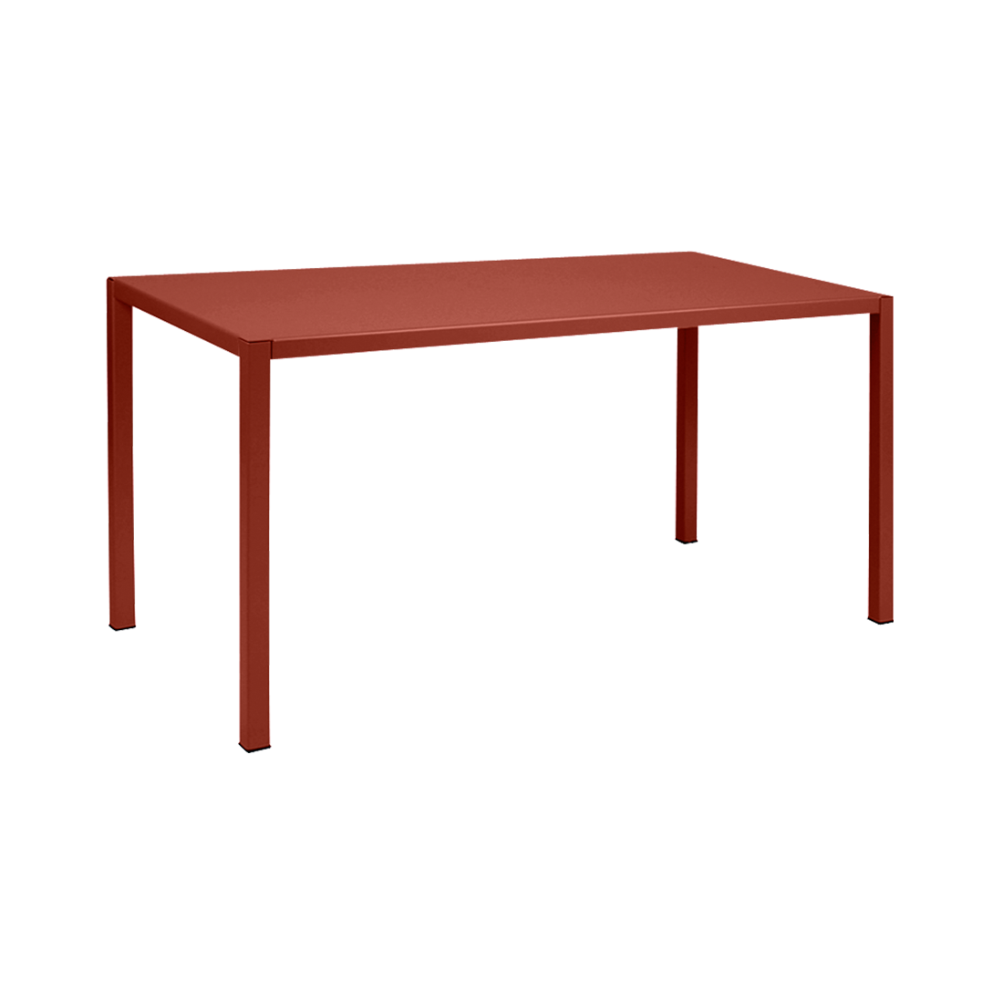 Table 140 x 70 cm inside out ocre rouge
