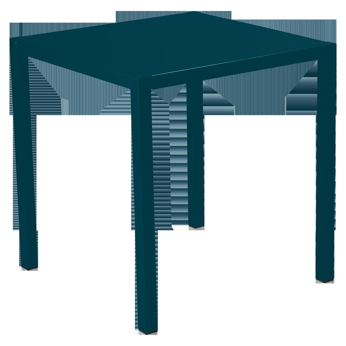 Table 70 x 70 cm inside out bleu acapulco