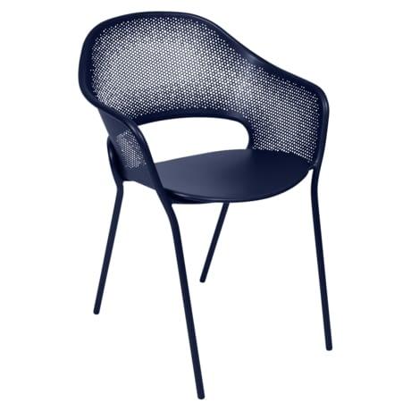 chaise metal, chaise design, chaise bleu, chaise de jardin, chaise terrasse