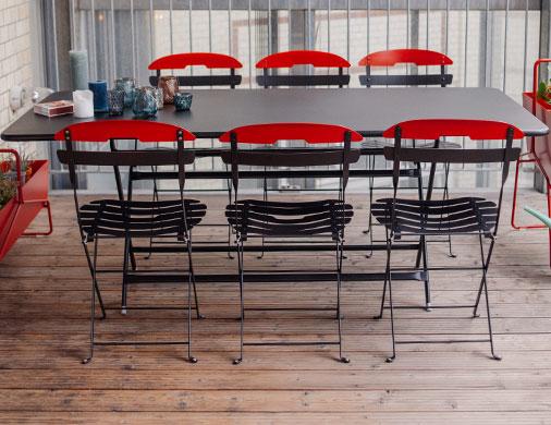 collection la m me fermob chaise en m tal pliante. Black Bedroom Furniture Sets. Home Design Ideas