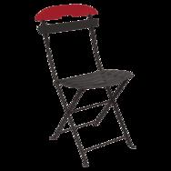 Chaise métal pliante