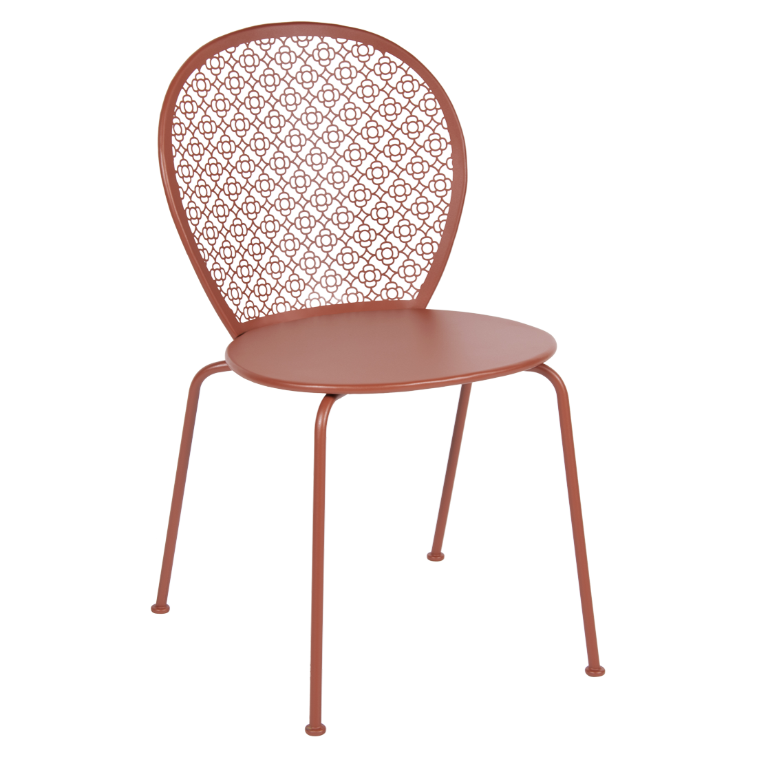 chaise lorette ocre rouge