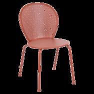 chaise lorette ocre rouge