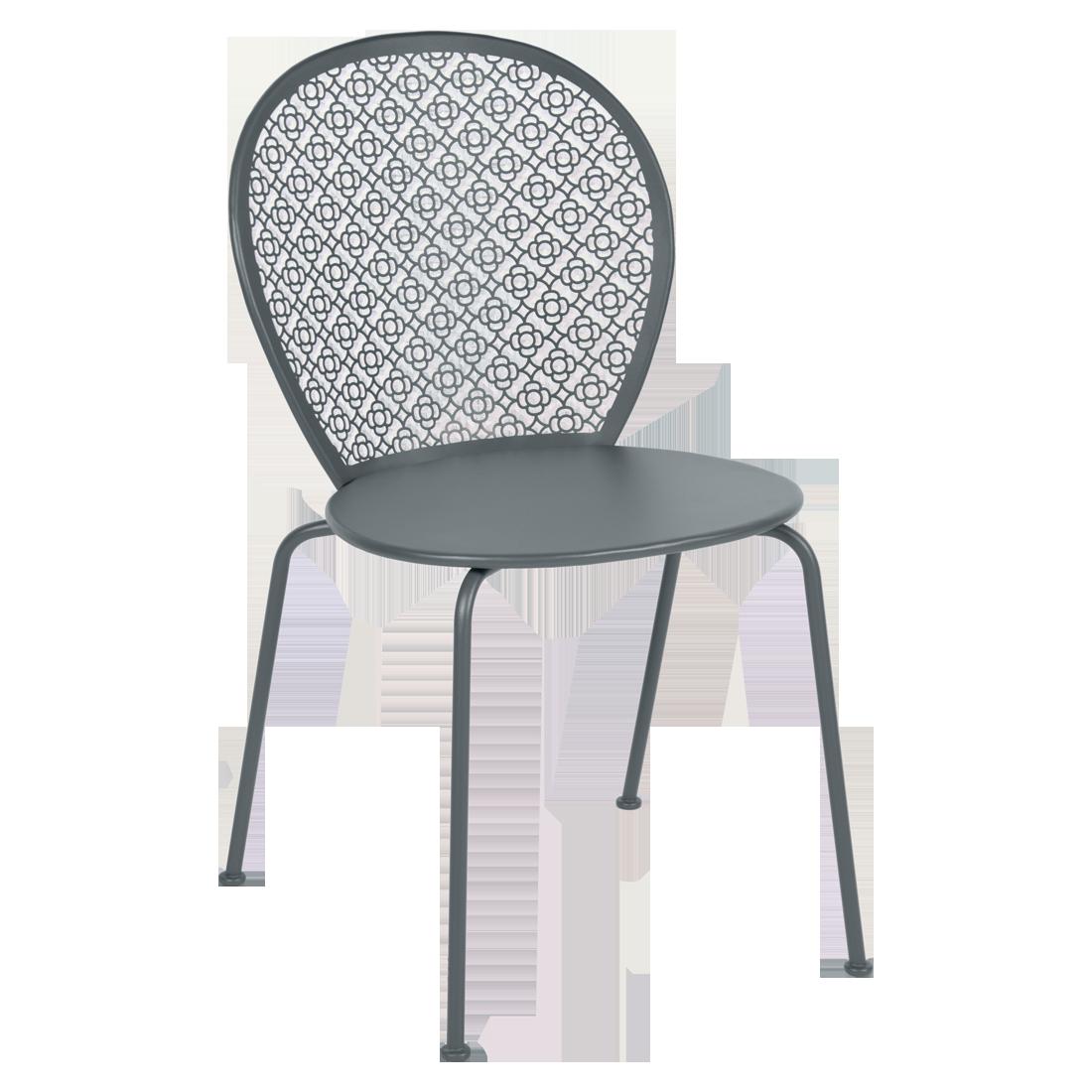 Chaise lorette gris orage