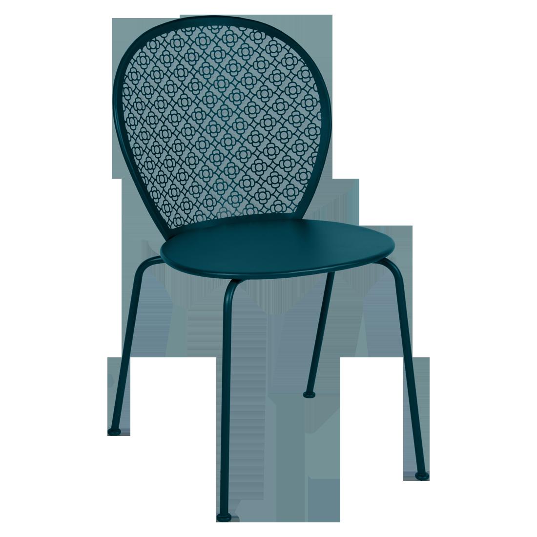 Chaise lorette bleu acapulco