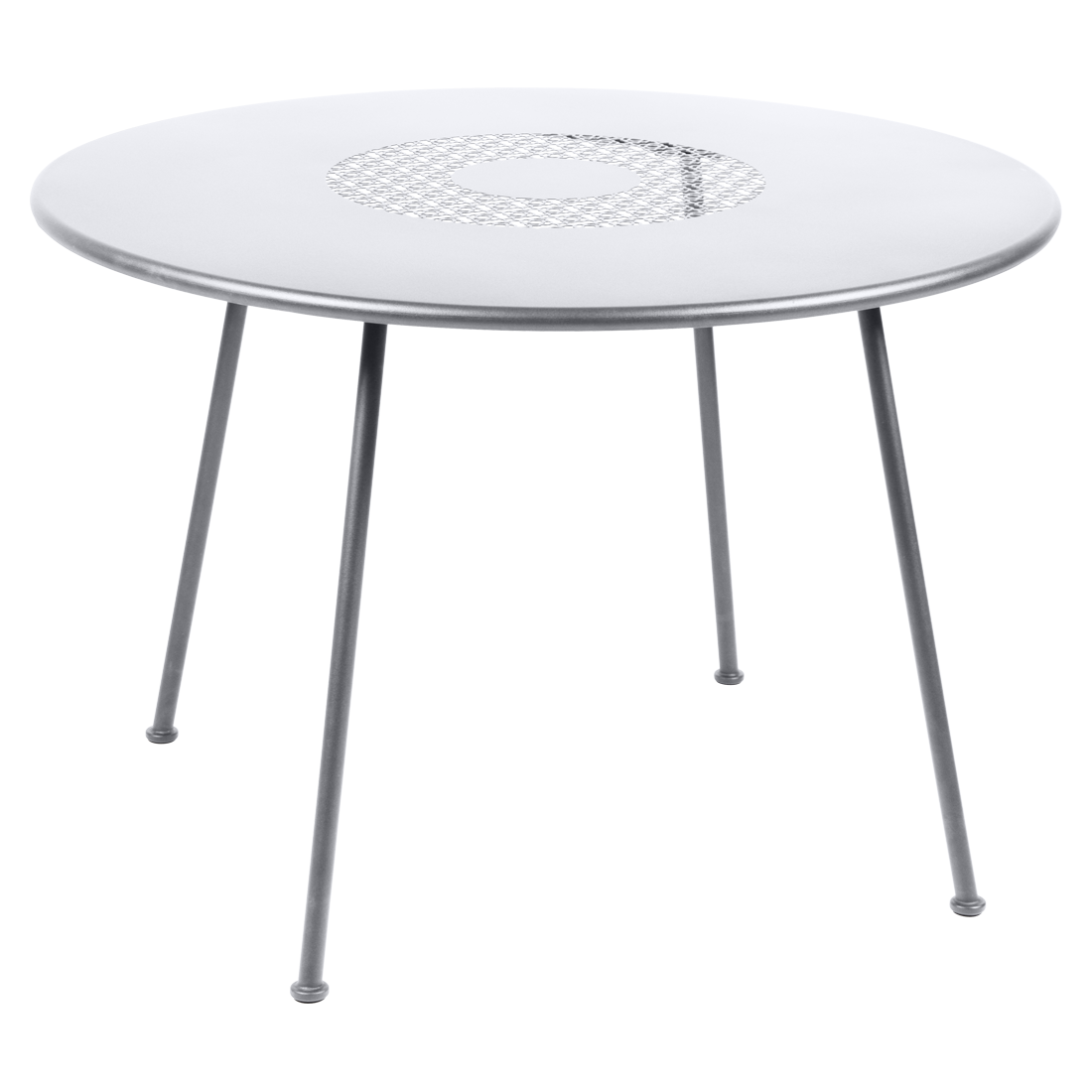 Table Ø 110 cm blanc coton