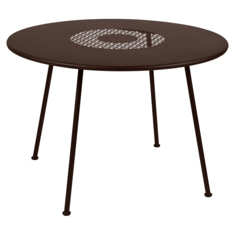 Table Ø 110 cm lorette rouille