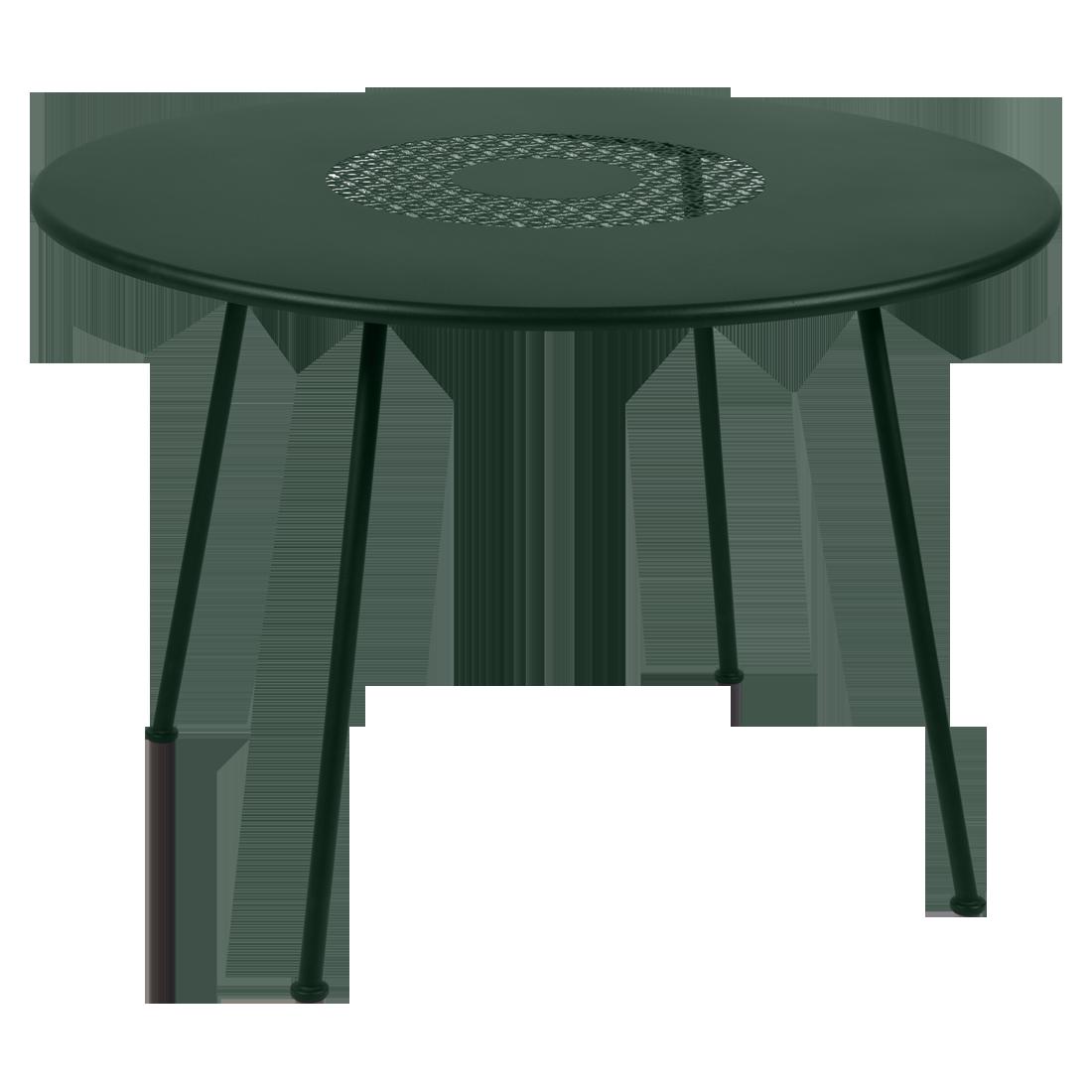 Table Ø 110 cm lorette vert cèdre