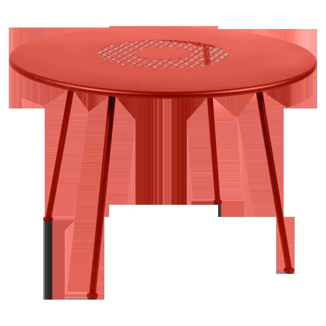 Table Ø 110 cm lorette capucine