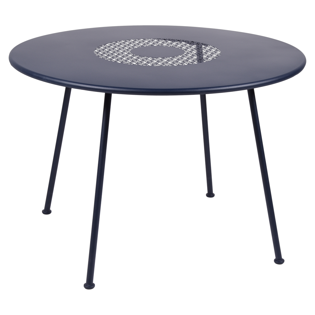 table ronde metal, table fermob, table ronde fermob, table lorette, table de jardin, table bleue