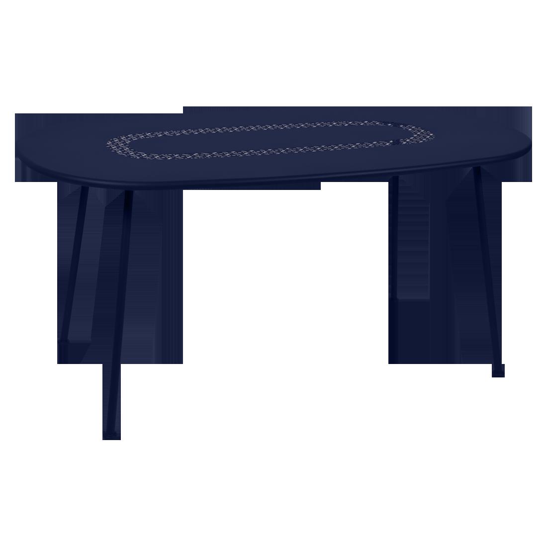 table de jardin, table lorette fermob, table metal, table bleu, table ovale