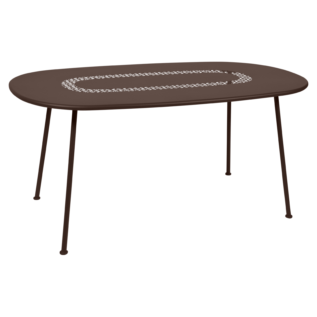 Table ovale Lorette rouille