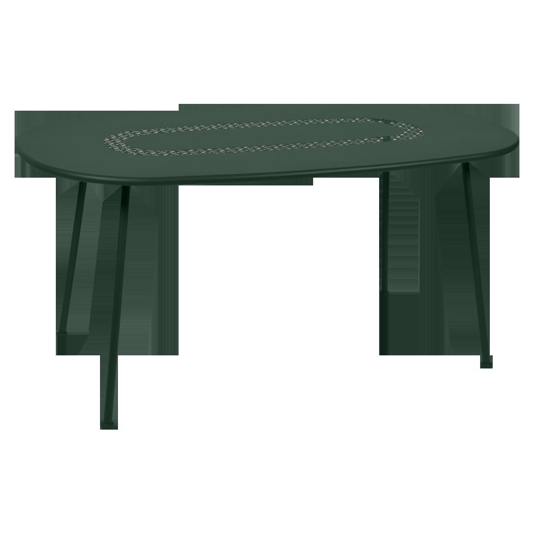 Table Ovale Lorette  vert cedre