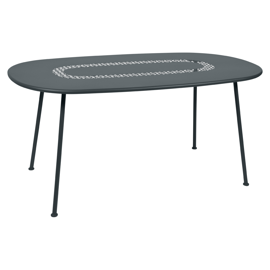 Table Ovale Lorette gris orage
