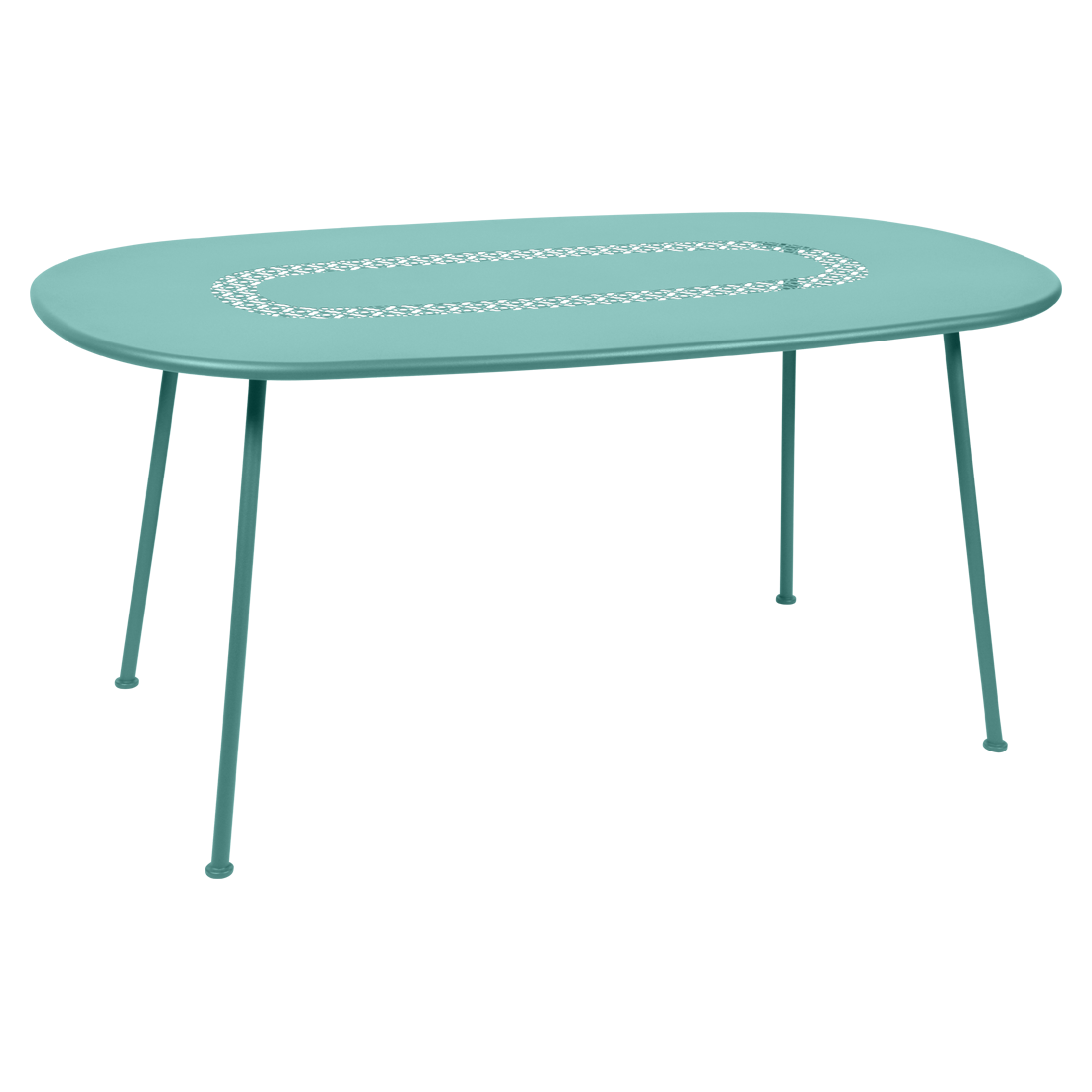 Table Ovale Lorette bleu lagune