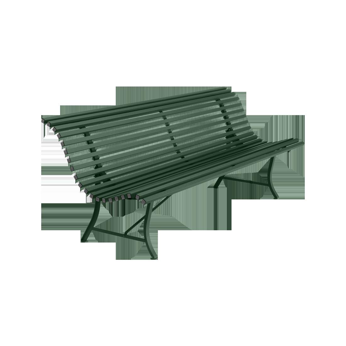 Banc 200 cm louisiane banc d 39 ext rieur pour salon de jardin - Banc en metal pour jardin ...