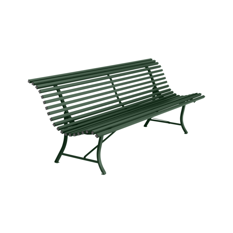 Banc 200 cm louisiane banc d 39 ext rieur pour salon de jardin for Plan de banc de jardin
