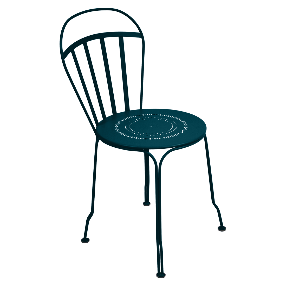 Chaise louvre bleu acapulco
