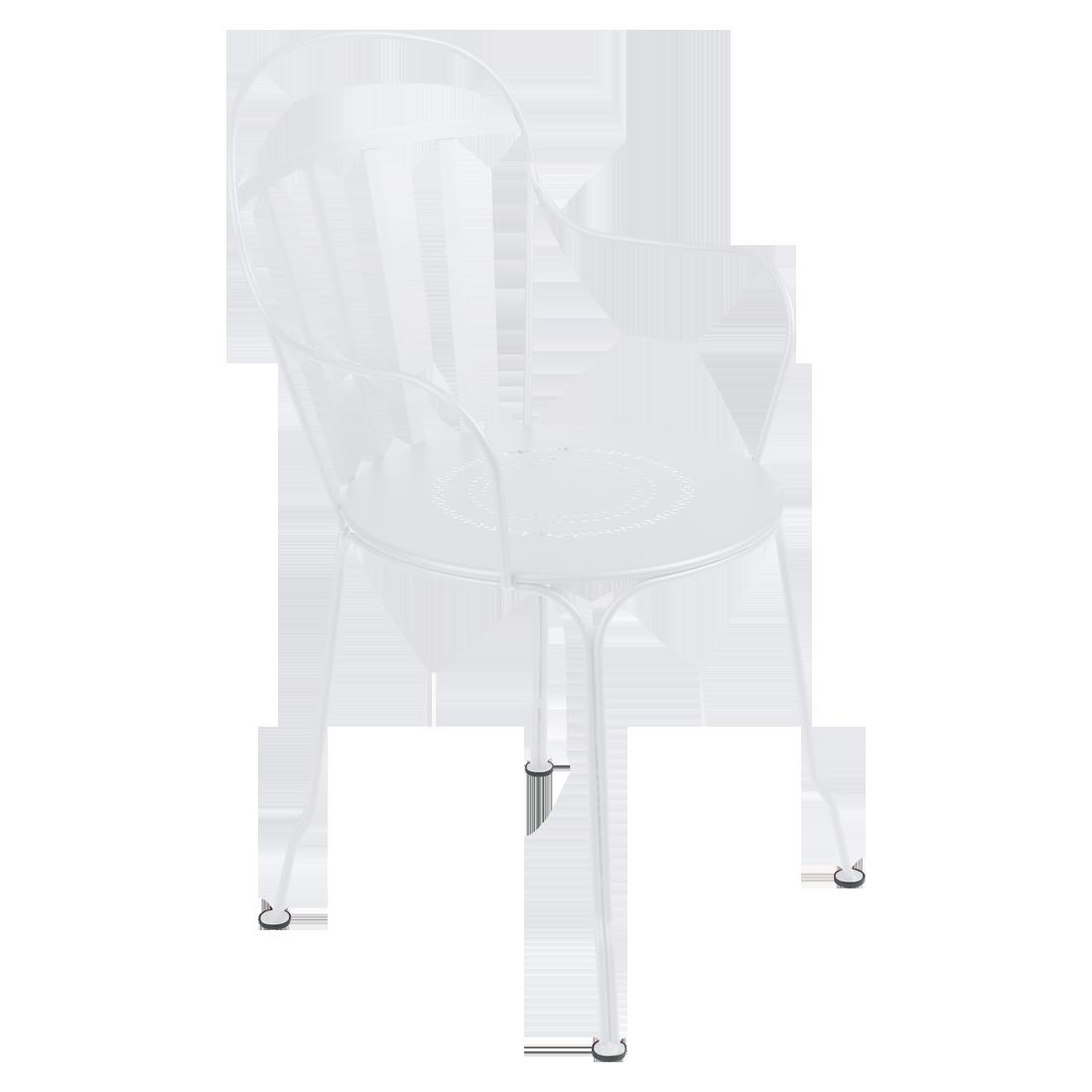 chaise metal, chaise fermob, chaise de jardin, chaise blanche