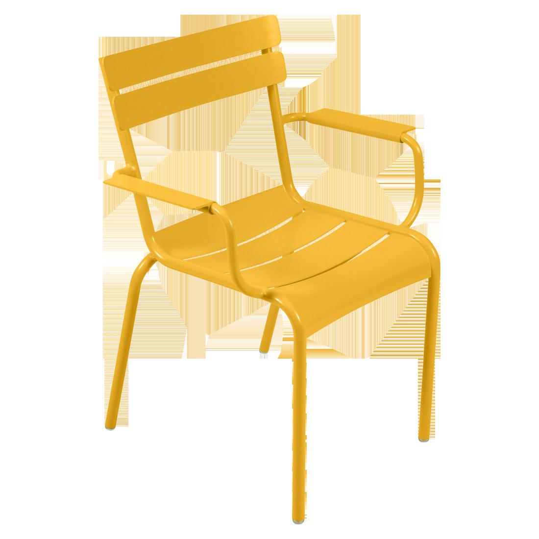 fauteuil de terrasse jaune