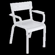 chaise metal, chaise fermob, chaise de jardin, chaise blanche, chaise avec accoudoir