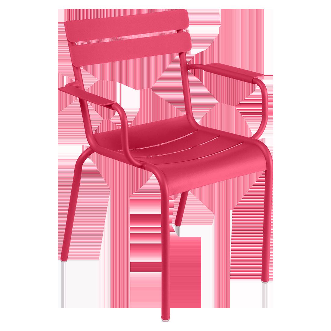 chaise metal, chaise fermob, chaise de jardin, chaise rose, chaise avec accoudoir