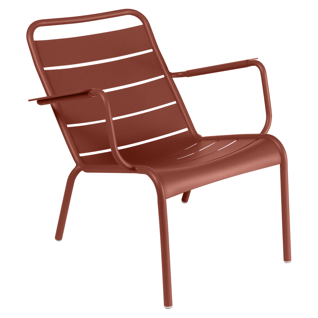 Fauteuil bas luxembourg ocre rouge