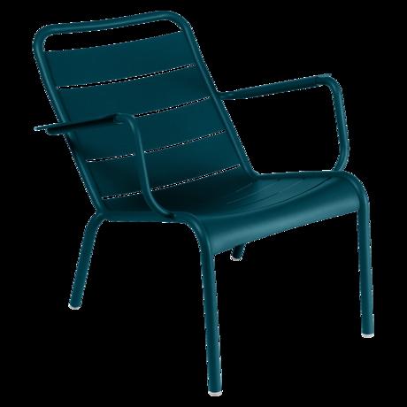 Metal Furniture Patio Fauteuil Bas Luxembourg Bleu Acapulco Next