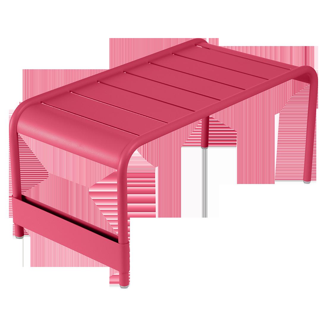 table basse metal, table basse fermob, table basse rose, banc de jardin, salon de jardin