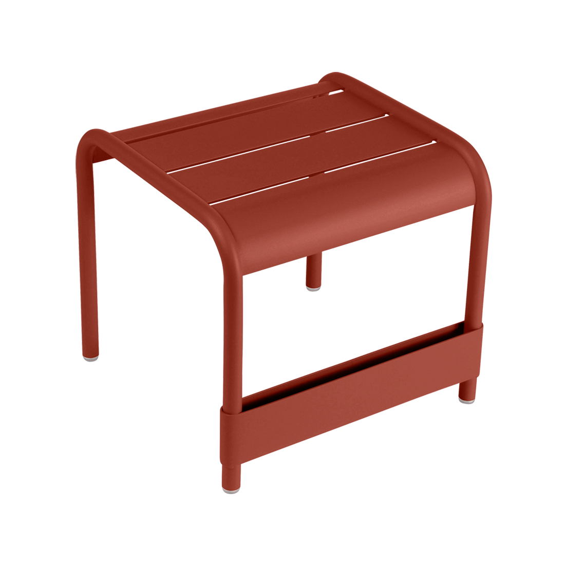 Petite table basse / Repose-pied luxembourg ocre rouge
