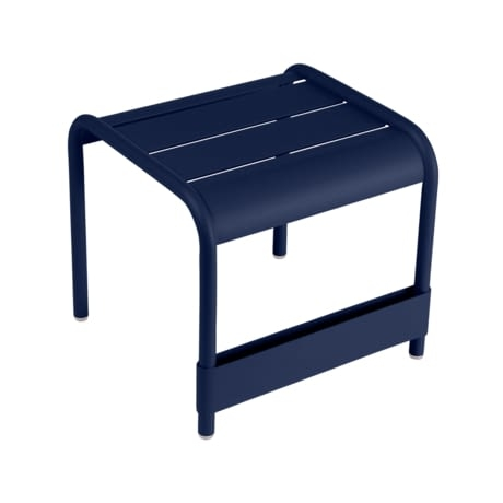 petite table basse, table basse metal, repose pied, table basse fermob, table basse bleu