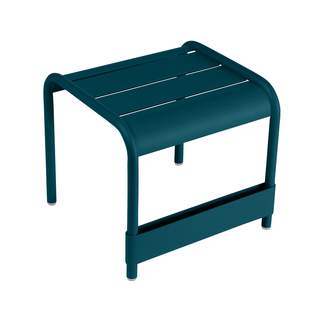 Petite table basse / Repose-pied luxembourg bleu acapulco