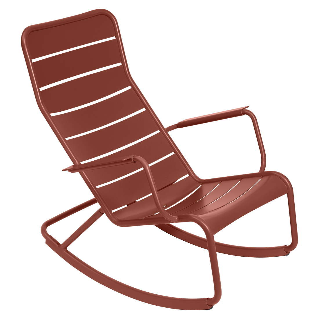 Rocking chair luxembourg ocre rouge