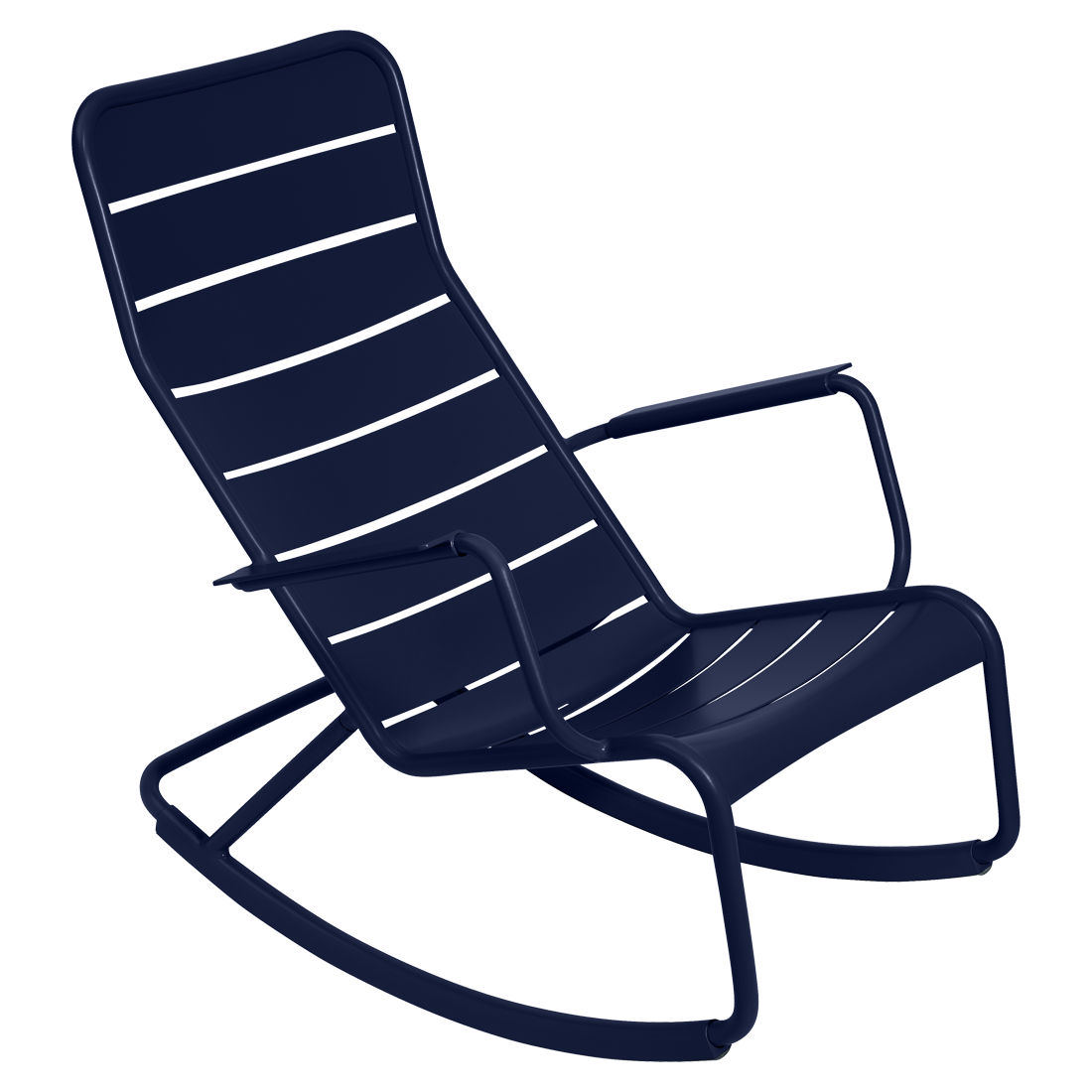 fauteuil de jardin, rocking chair metal, salon de jardin, rocking chair bleu