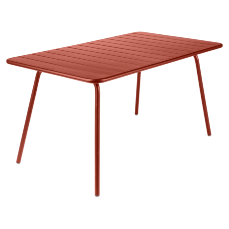 Table 143 x 80 cm luxembourg ocre rouge