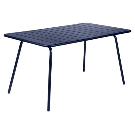 table de jardin, table metal, table fermob, table bleu