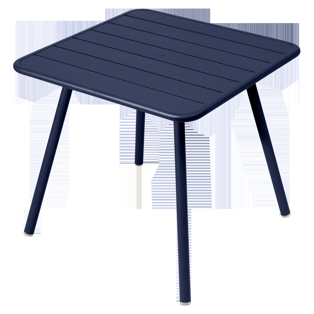 table de jardin, table metal, table 4 places, table bleu, table fermob