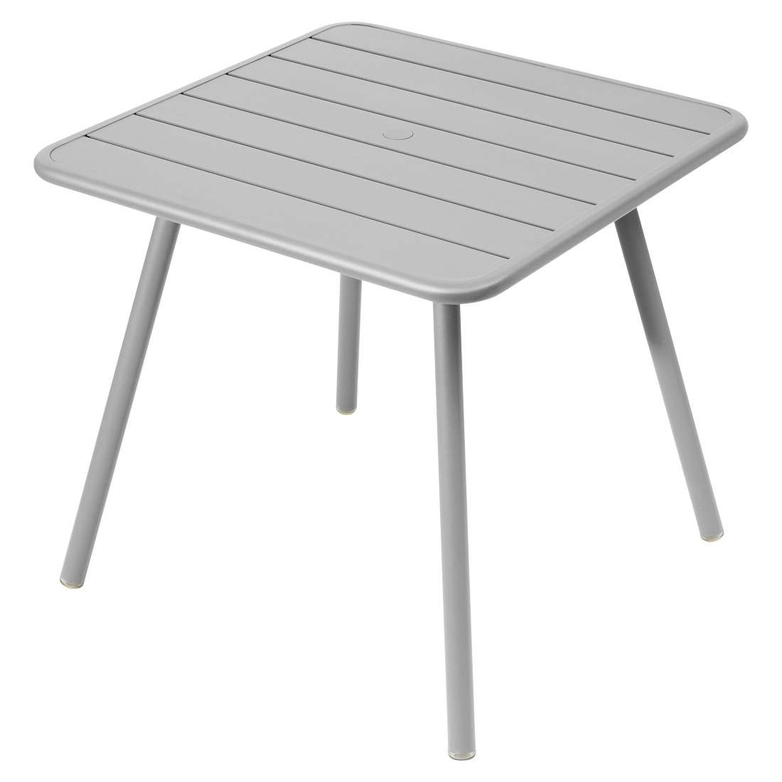 Table 80x80 cm 4 pieds luxembourg table de jardin metal for Table design 80 cm