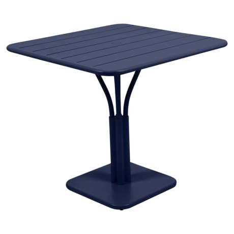 table de jardin, table metal, petite table, table bleu