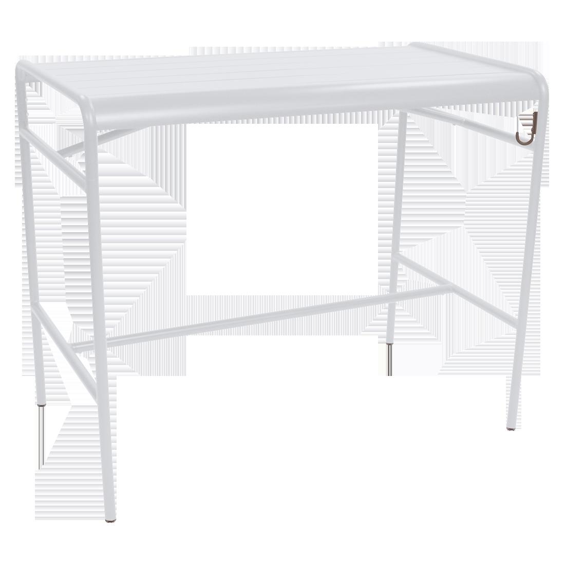 table haute blanche, table haute metal, table terrasse, table de jardin