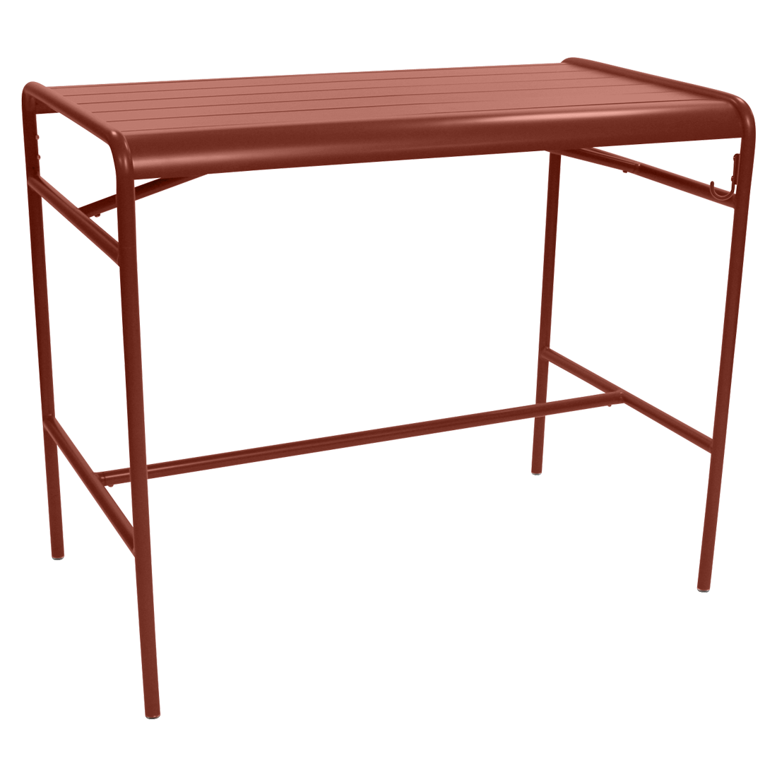 Table haute 126 x 73 cm luxembourg ocre rouge