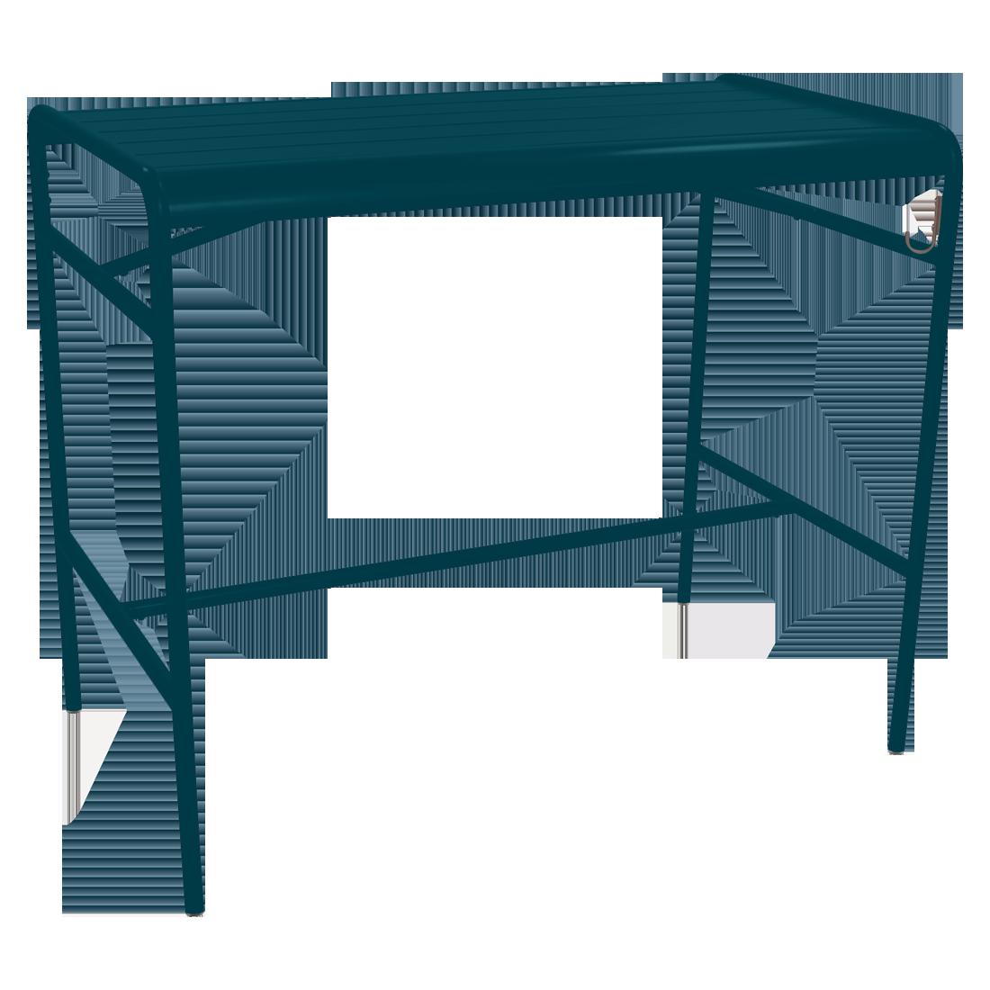 Table haute 126 x 73 cm luxembourg bleu acapulco