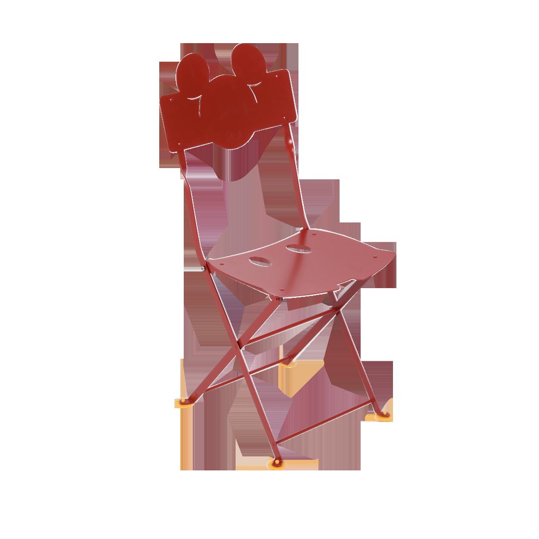 Chaise bistro enfant Coquelicot